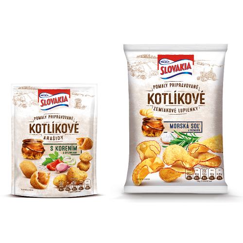 Slovakia Kotlíkové zemiakové lupienky a Slovakia Kotlíkové arašidy