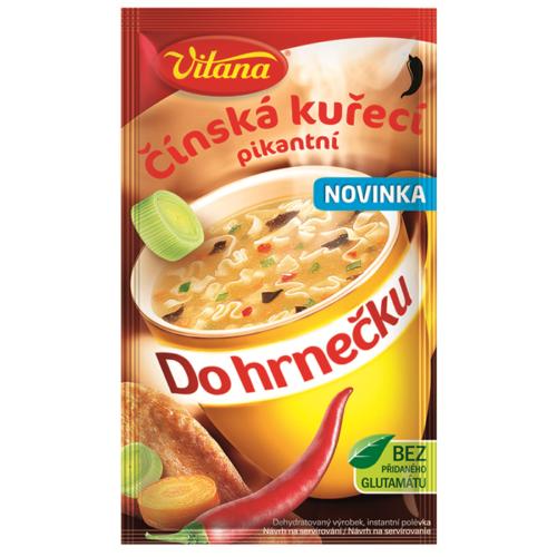 Čínska kuracia pikantná polievka do hrnčeka