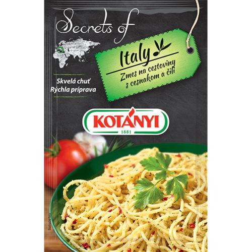 Kotányi Secrets of Italy Zmes na cestoviny s cesnakom a čili