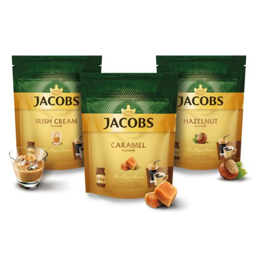 Ochutené instantné kávy Jacobs