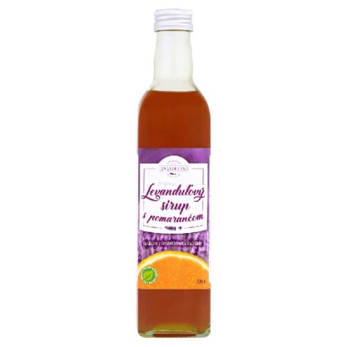 Levanduľový sirup s pomarančom