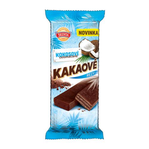 Celomáčané Kakaové rezy Kokosové