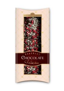 Ručne vyrábané belgické čokolády so sušeným ovocím