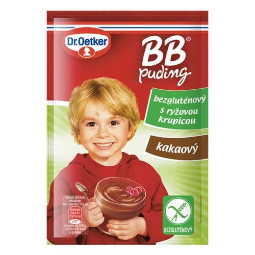BB puding kakaový bezgluténový s ryžovou krupicou Dr. Oetker