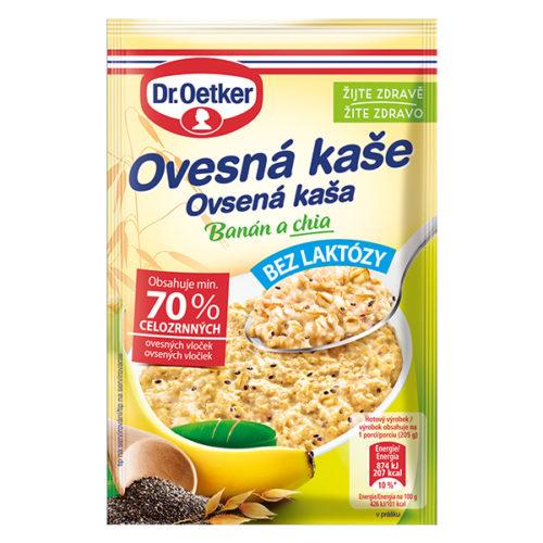Ovsená kaša bez laktózy Banán a chia Dr. Oetker