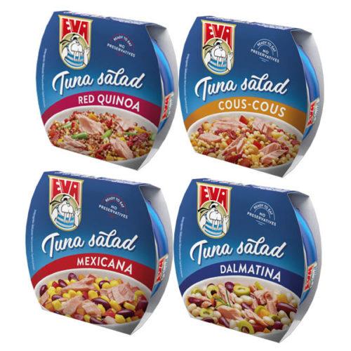 Tuniakové šaláty značky Eva
