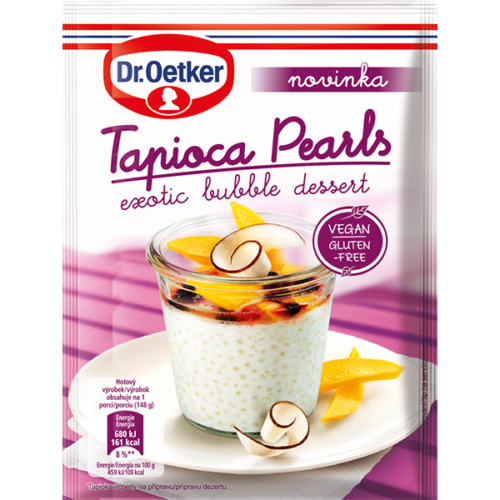 Tapioca Pearls exotic bubble dessert Dr. Oetker