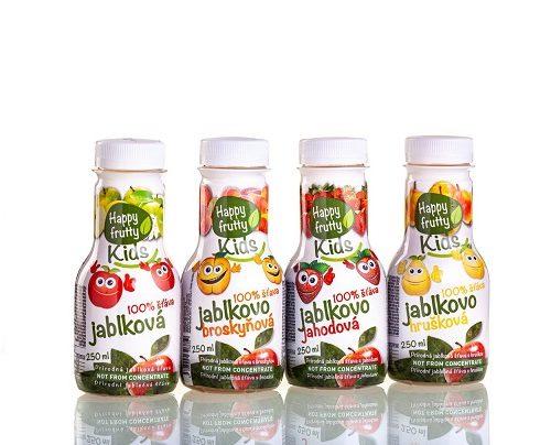 100% Ovocné šťávy Happy Frutty Kids