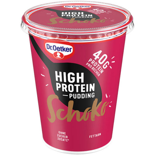 High Protein Pudding Schoko Dr. Oetker.