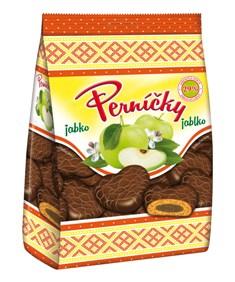 Perníčky s jablkovou náplňou celomáčané v kakaovej poleve