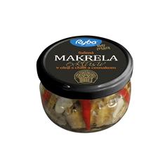 Sušená makrela Exklusiv v oleji s chilli a cesnakom